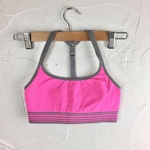 Athleta Pink & Gray Up-Tempo Seamless Bra-S
